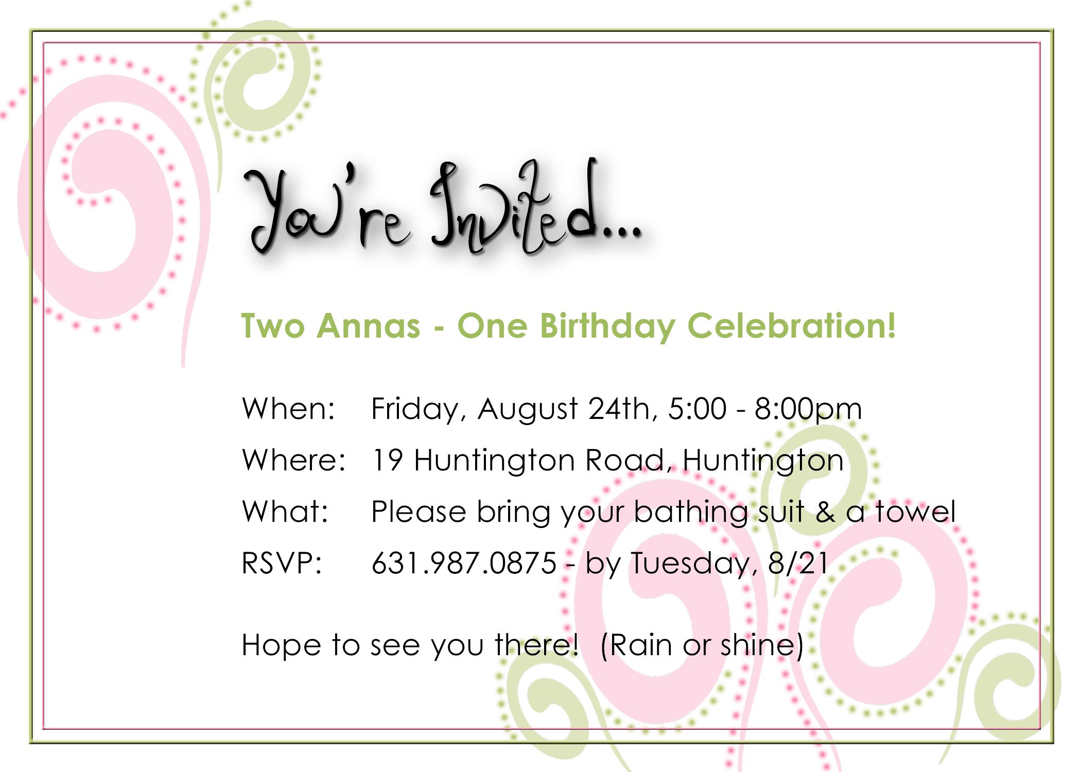 14 Years Old Birthday Invitation